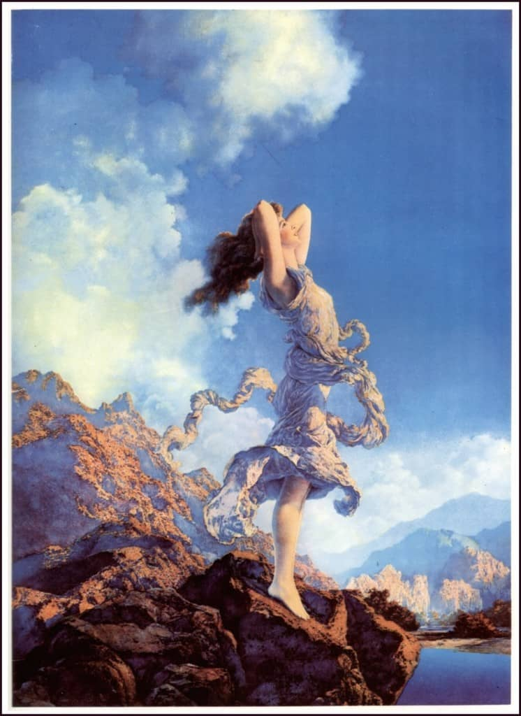 Ecstasy - Maxfield Parrish Painting - Dawn Morning