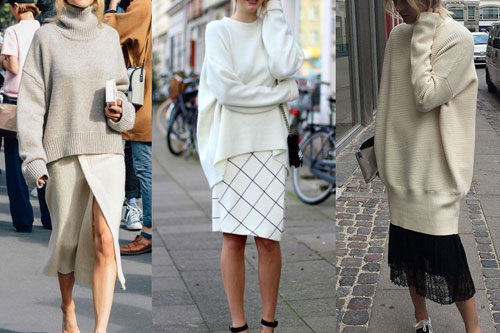 Thin women fashion oversize