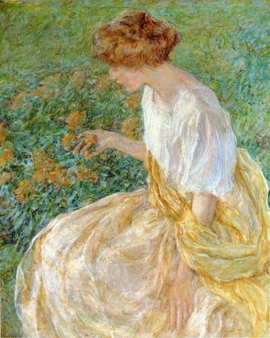 "Robert Lewis Reid ""The Yellow Flower"""