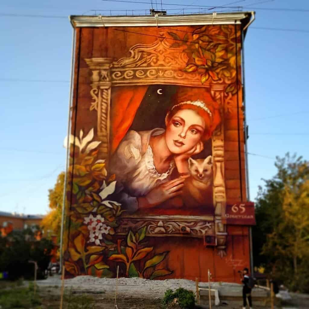 keeper of siberia graffiti novosibirsk