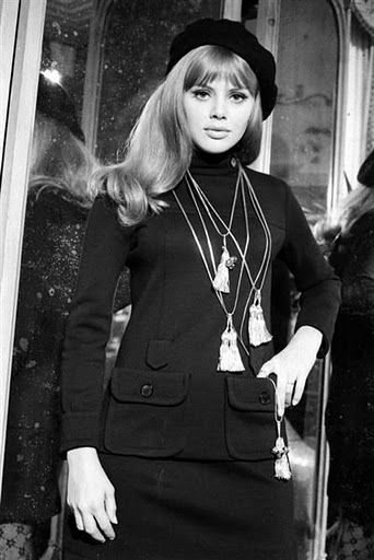 Woman in beret 60's Fashion