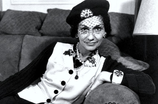 Coco Chanel in beret