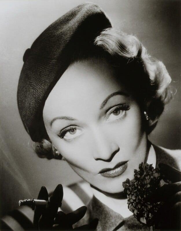 Marlene Dietrich in beret