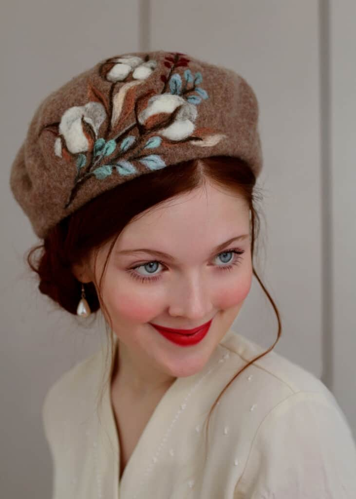 "Felted Beret ""Beretro Collection"" by Rebecca Lord"