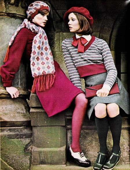 Seventies 70's Fashion Ladies in Berets