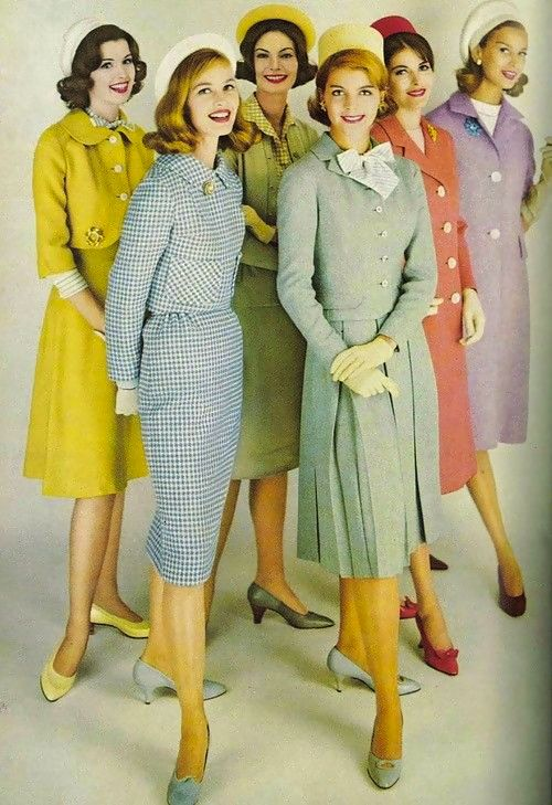 Sixties 60's fashion women in berets